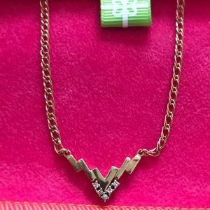 Jewelry - 14k gold necklace with 5 diamonds
